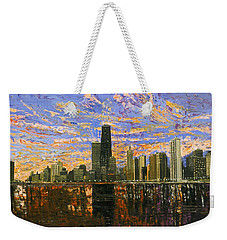 Chicago Weekender Tote Bag by Mike Rabe