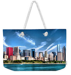 Chicago Skyline Panorama Weekender Tote Bag by Christopher Arndt