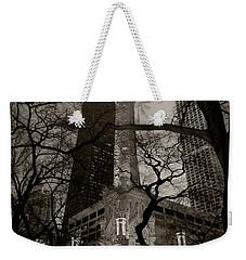 Chicago Water Tower B W Weekender Tote Bag by Steve Gadomski