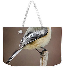 Chickadee Weekender Tote Bag by Bill Wakeley