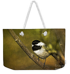 Chickadee Weekender Tote Bag by Cindi Ressler