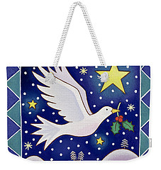 Christmas Dove  Weekender Tote Bag by Cathy Baxter