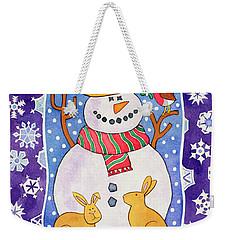 Christmas Snowflakes Weekender Tote Bag by Cathy Baxter