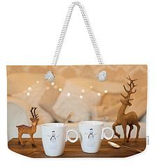 Christmas Teabreak Weekender Tote Bag by Amanda Elwell