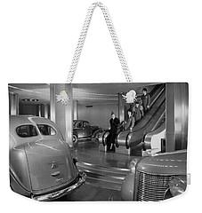 Chrysler Building Car Showroom Weekender Tote Bag by Underwood Archives
