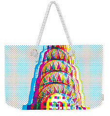 Chrysler Pop Art Weekender Tote Bag by Gary Grayson
