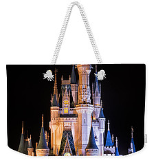 Cinderella's Castle In Magic Kingdom Weekender Tote Bag by Adam Romanowicz