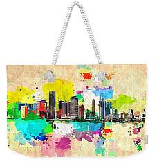 City Of Miami Grunge Weekender Tote Bag by Daniel Janda