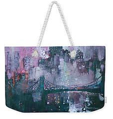 City That Never Sleeps Weekender Tote Bag by Ylli Haruni