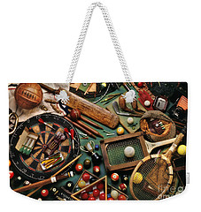 Classic Sports Gear Weekender Tote Bag by Simon Kayne