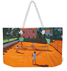 Clay Court Tennis Weekender Tote Bag by Andrew Macara