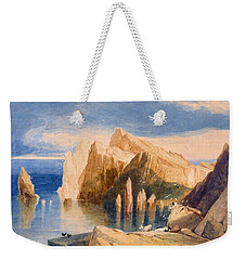 Cliffs On The North East Side Of Point Weekender Tote Bag by John Sell Cotman