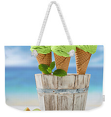 Close Up Ice Creams Weekender Tote Bag by Amanda Elwell