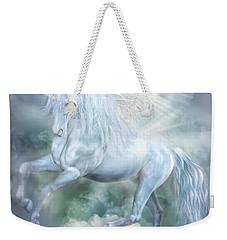 Unicorn Cloud Dancer Weekender Tote Bag by Carol Cavalaris