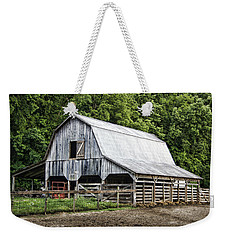 Clubhouse Road Barn Weekender Tote Bag by Cricket Hackmann