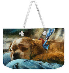 Cocker Spaniel Photo Art 07 Weekender Tote Bag by Thomas Woolworth