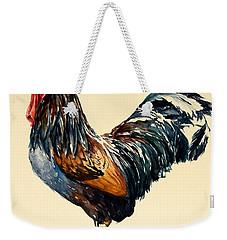 Cockerel Weekender Tote Bag by Alison Cooper