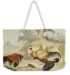 Cocks Fighting Weekender Tote Bag by Melchior de Hondecoeter