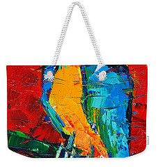 Coco The Talkative Parrot Weekender Tote Bag by Mona Edulesco