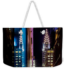 Color Of Manhattan Weekender Tote Bag by Az Jackson