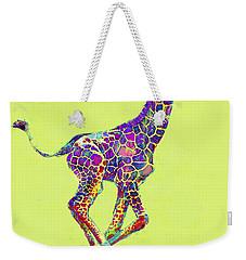 Colorful Baby Giraffe Weekender Tote Bag by Jane Schnetlage