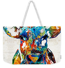 Colorful Cow Art - Mootown - By Sharon Cummings Weekender Tote Bag by Sharon Cummings