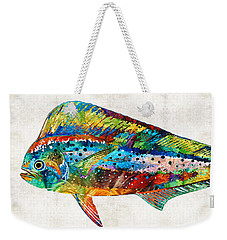 Colorful Dolphin Fish By Sharon Cummings Weekender Tote Bag by Sharon Cummings