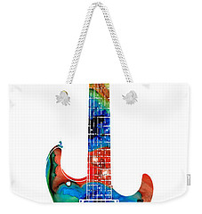 Colorful Electric Guitar 2 - Abstract Art By Sharon Cummings Weekender Tote Bag by Sharon Cummings