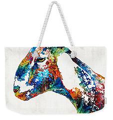 Colorful Goat Art By Sharon Cummings Weekender Tote Bag by Sharon Cummings