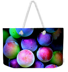 Colorful Grapes - Digital Art Weekender Tote Bag by Carol Groenen