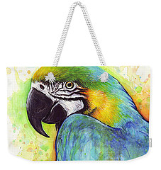 Macaw Painting Weekender Tote Bag by Olga Shvartsur