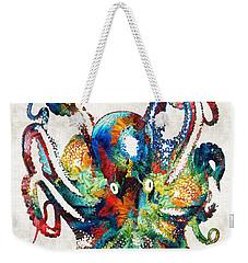 Colorful Octopus Art By Sharon Cummings Weekender Tote Bag by Sharon Cummings