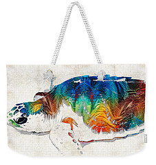 Colorful Sea Turtle By Sharon Cummings Weekender Tote Bag by Sharon Cummings