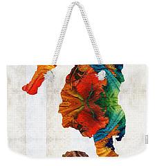 Colorful Seahorse Art By Sharon Cummings Weekender Tote Bag by Sharon Cummings