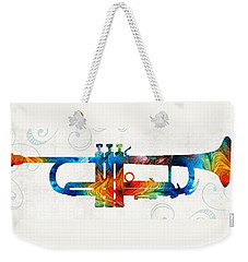 Colorful Trumpet Art Color Fusion By Sharon Cummings Weekender Tote Bag by Sharon Cummings