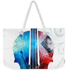 Colorful Violin Art By Sharon Cummings Weekender Tote Bag by Sharon Cummings
