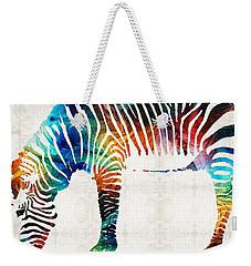 Colorful Zebra Art By Sharon Cummings Weekender Tote Bag by Sharon Cummings