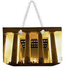 Columns Surrounding A Memorial, Lincoln Weekender Tote Bag by Panoramic Images