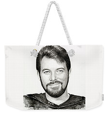 Commander William Riker Star Trek Weekender Tote Bag by Olga Shvartsur