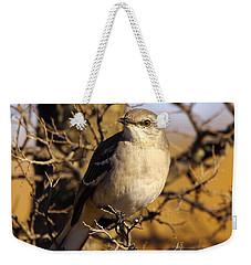 Common Mockingbird Weekender Tote Bag by Robert Frederick