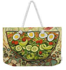 Cool Summer Salad Weekender Tote Bag by Jen Norton