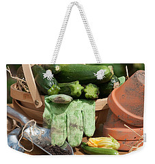 Courgette Basket With Garden Tools Weekender Tote Bag by Amanda Elwell