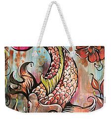 Coy Koi Weekender Tote Bag by Shadia Derbyshire