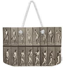 Cricketer Weekender Tote Bag by Eadweard Muybridge