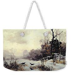 Crows In A Winter Landscape Weekender Tote Bag by Karl Kustner
