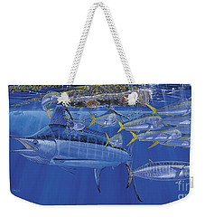 Crystal Blue Off00100 Weekender Tote Bag by Carey Chen