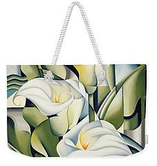 Cubist Lilies Weekender Tote Bag by Catherine Abel