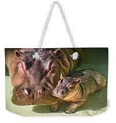 Cuddle With Mom Weekender Tote Bag by Jamie Pham