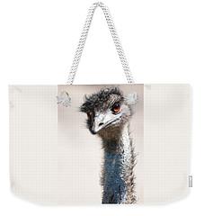 Curious Emu Weekender Tote Bag by Carol Groenen