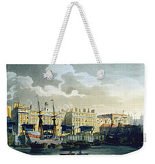 Custom House From The River Thames Weekender Tote Bag by T. & Pugin, A.C. Rowlandson